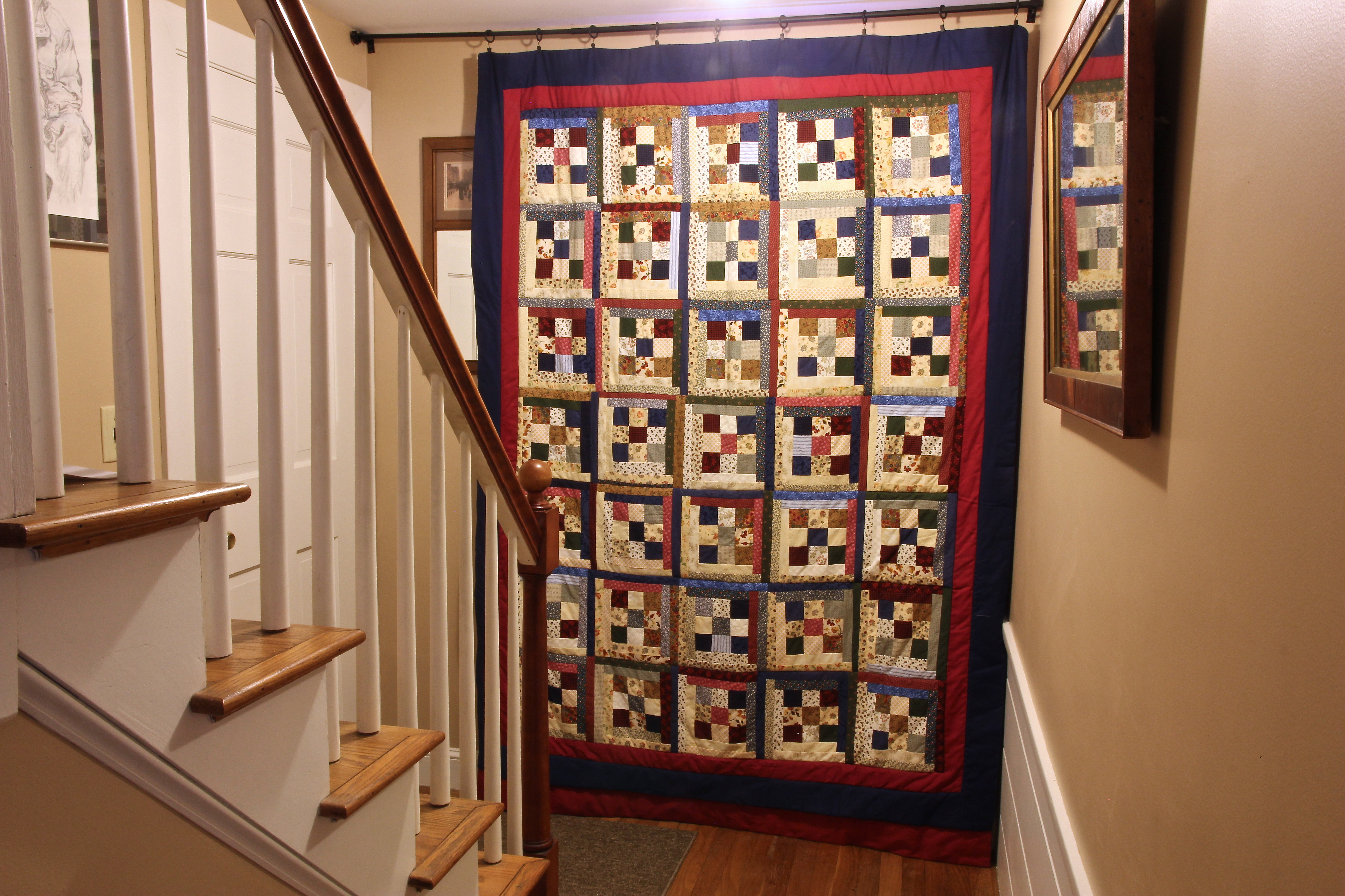 The design wall and the full studio… | Quiltify : hang quilt on wall - Adamdwight.com